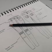 Women's workwear trousers - Drawing
