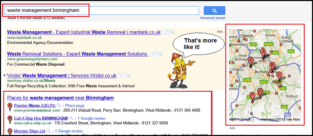 Google.co.uk Real Results without US listings
