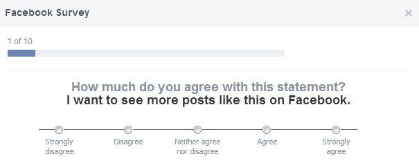 facebook survey question