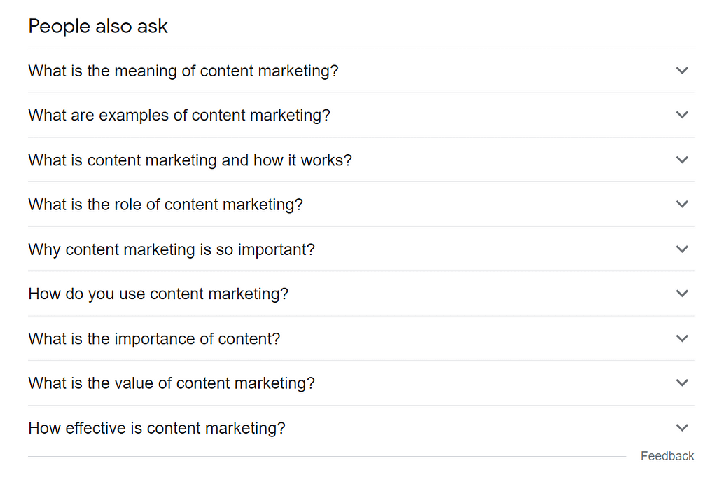 People Also Asked Content Calendar Planning - Boom Online Marketing