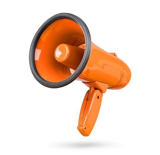 An orange megaphone
