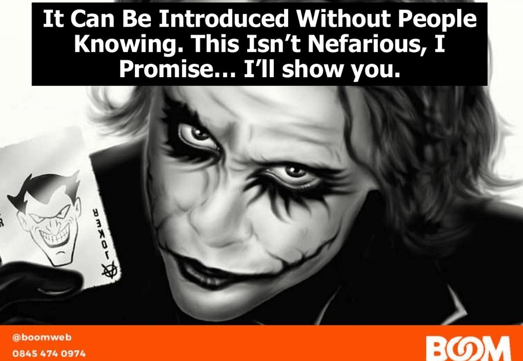 Joker drink presentation