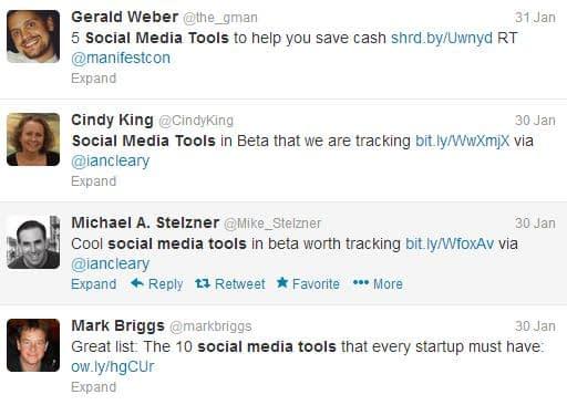 Twitter search results with quote marks