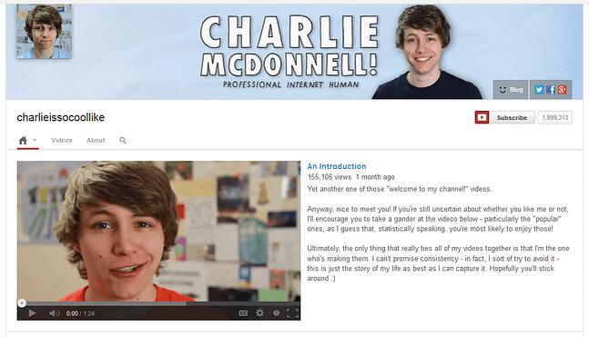charlieissocoollike youtube channel