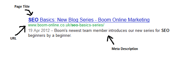 Pointing Out Page Title And Meta Description In Google