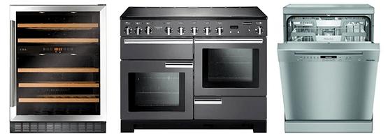 A range of kitchen appliances