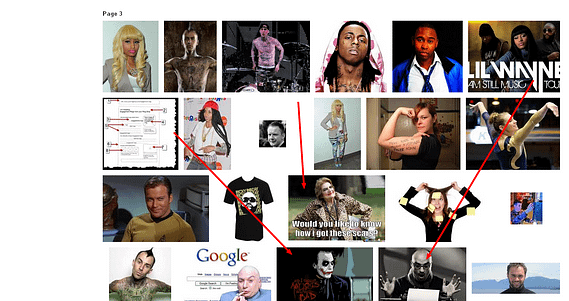 image search shows wayne likes chris nelson's blog