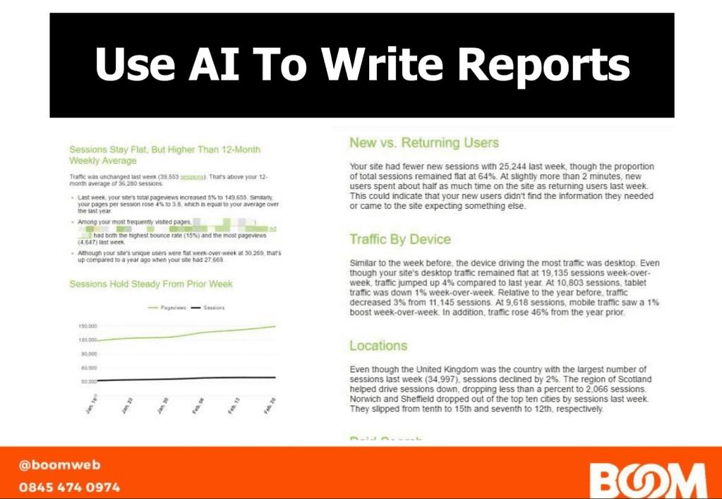 Using AI to write reports