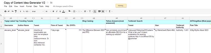 Copy of Content Idea Generator V2