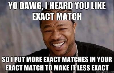 AdWords near match fail