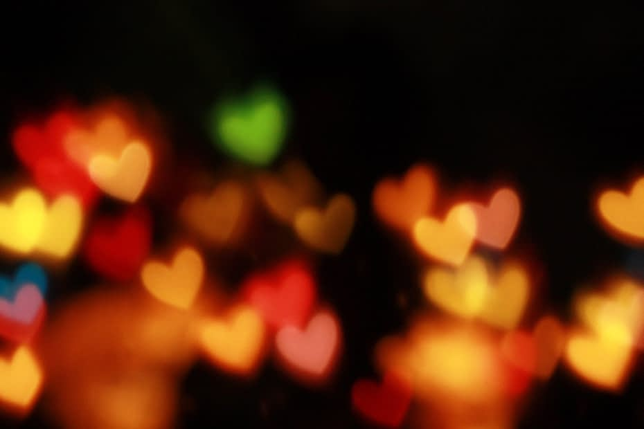 Hearts glowing