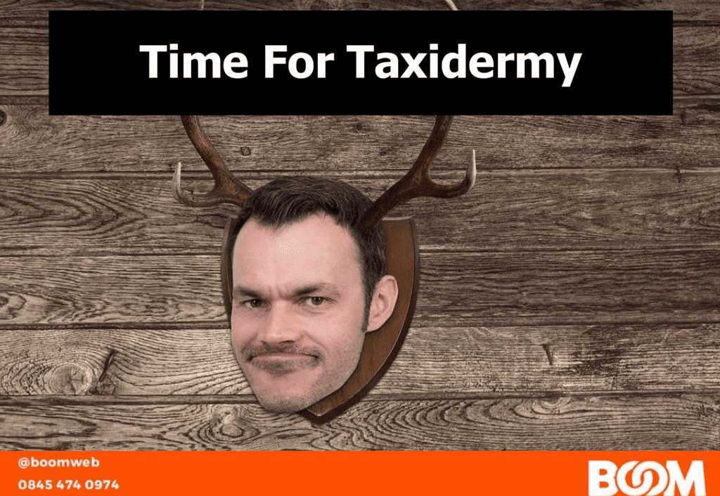 Ian's taxidermied head