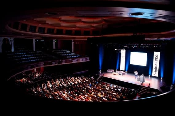 view of the stage at BrightonSEO
