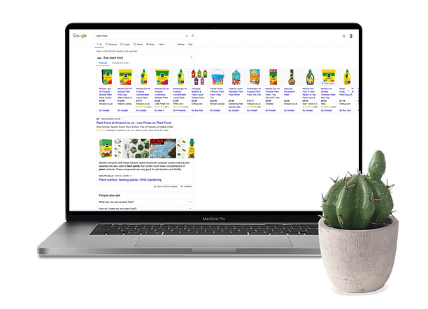 Google shopping ads in the search results
