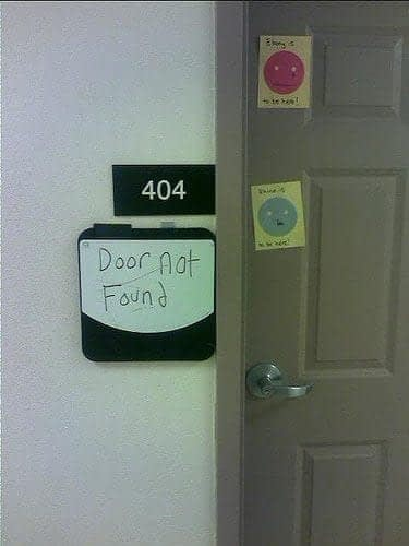 404 door not found