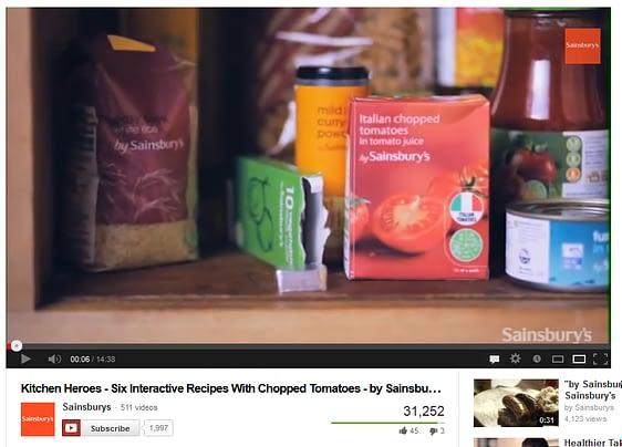 Sainsburys instructional video