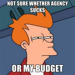 Not sure if agency sucks or my budget