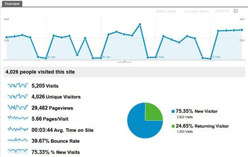 Analytics Audience overview