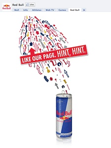 red bull facebook welcome page