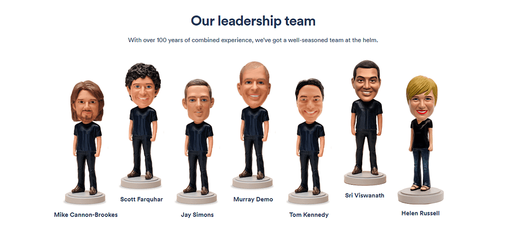 Meet the Team Page example