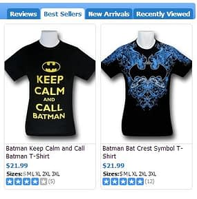 Batman best sellers
