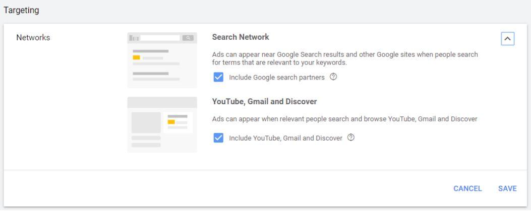 Gmail targeting