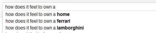 How does it feel to own a...google search