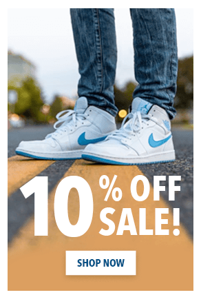 A display ad for sneakers
