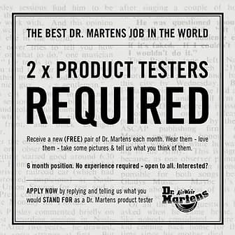 Dr Martens product testers