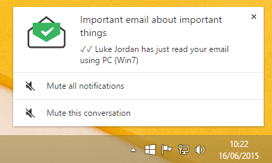 MailTrack notification