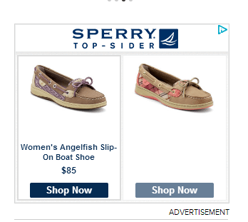 sperry remarketing ad