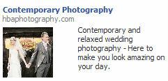 contemporary photography Facebook ad
