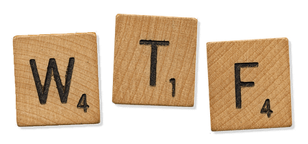 Letters on wooden Scrabble pieces